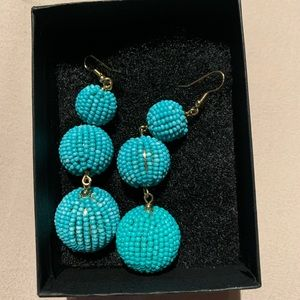 Beaded Drop Ball Earrings *Never worn*